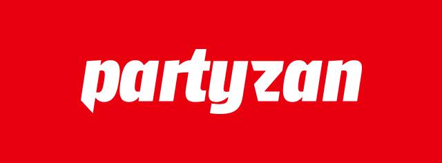Partyzan  recording studio redizajnirani logo (negativ)